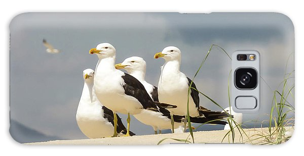 Seagulls At The Beach Galaxy Case