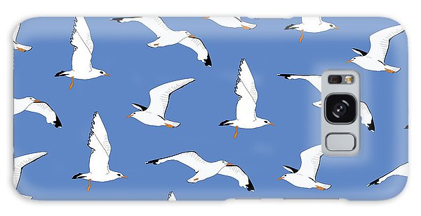 Seagulls Galaxy Case - Seagulls Gathering At The Cricket by Elizabeth Tuck