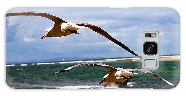 Galaxy Case - Seagulls by Karen Elzinga