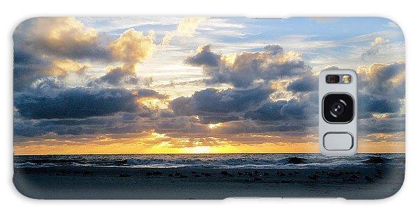Seagulls On The Beach At Sunrise Galaxy Case