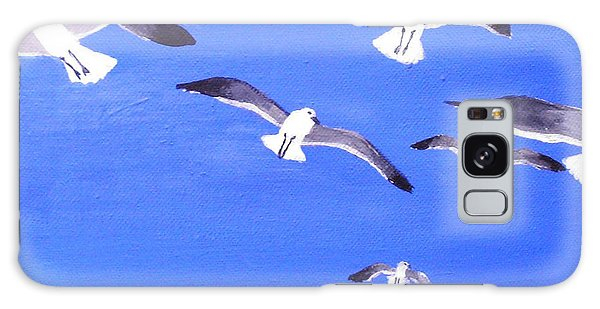 Seagulls Overhead Galaxy Case by Anne Marie Brown