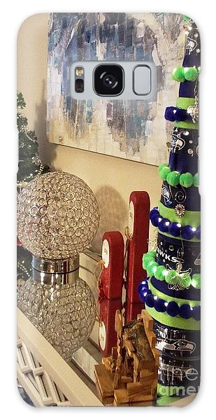 Seahawk Christmas Galaxy Case by Judyann Matthews