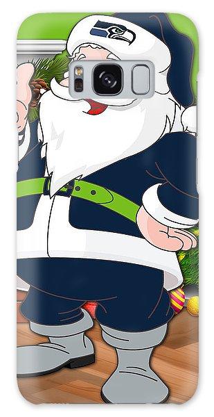 Santa Claus Galaxy Case - Seahawks Santa Claus by Joe Hamilton