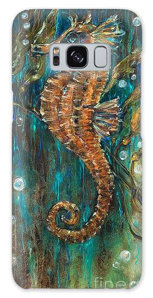Seahorse And Kelp Galaxy Case