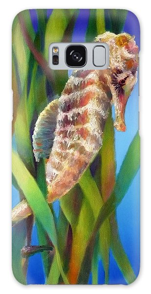 Seahorse I Among The Reeds Galaxy Case by Nancy Tilles
