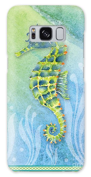 Seahorse Blue Green Galaxy Case by Amy Kirkpatrick