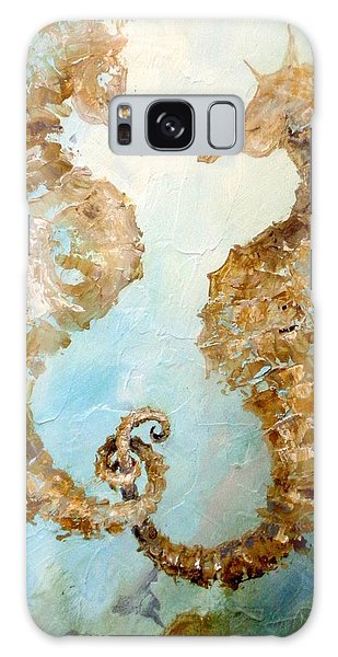 Seahorses In Love 2016 Galaxy Case by Dina Dargo
