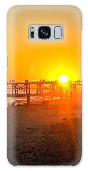 Seal Beach Pier Sunset Galaxy Case by Mark Barclay