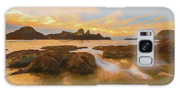 Seal Rock Sunset Galaxy Case