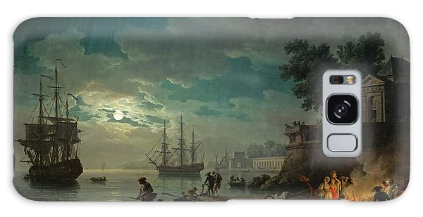 Seaport By Moonlight Galaxy Case