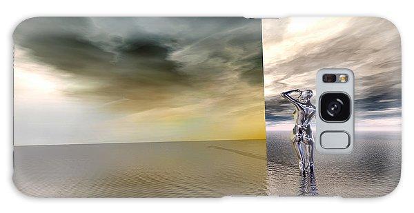 Galaxy Case featuring the digital art Searching by Sandra Bauser Digital Art