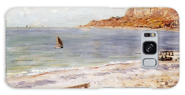 Boat Galaxy S8 Case - Seascape At Sainte Adresse  by Claude Monet