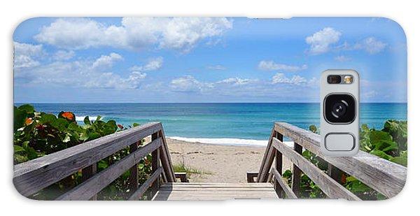 Seascape  Boardwalks Treasure Coast Florida Collage 1 Galaxy Case