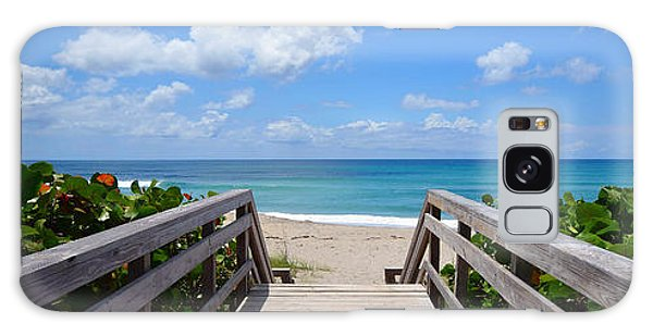 Seascape  Boardwalks Treasure Coast Florida Collage 1 Galaxy Case