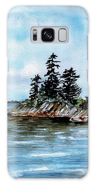 Seascape Casco Bay Maine Galaxy Case