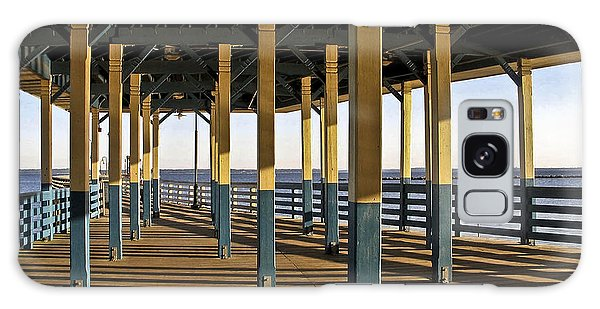 Seascape Walk On The Pier Galaxy Case