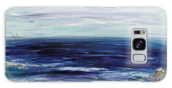 Seascape With White Cats Galaxy Case by Regina Valluzzi