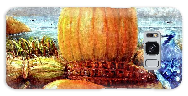Seashore Pumpkin  Galaxy Case by Bernadette Krupa