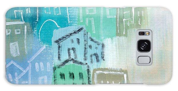 Town Galaxy Case - Seaside City- Art By Linda Woods by Linda Woods