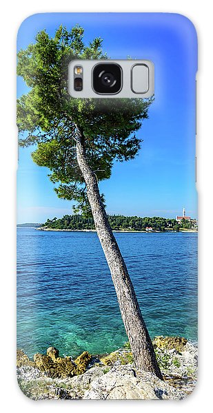 Seaside Leaning Tree In Rovinj, Croatia Galaxy Case