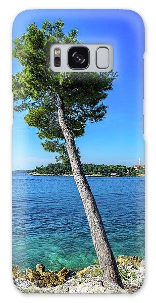 Seaside Leaning Tree In Rovinj, Croatia Galaxy Case