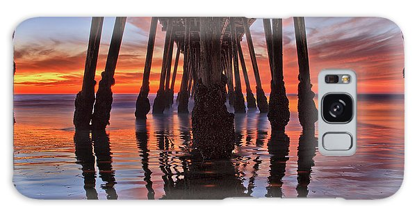 Seaside Reflections Under The Imperial Beach Pier Galaxy Case