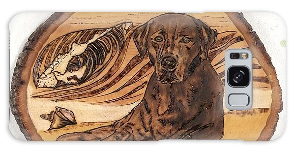 Galaxy Case featuring the pyrography Seaside Sam by Denise Tomasura
