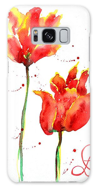 Season's First Tulips Galaxy Case by Lynda Cookson
