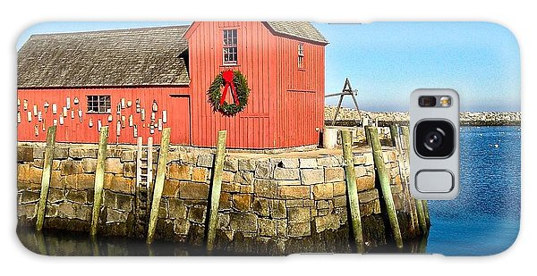 Season's Greetings Rockport Ma Galaxy Case