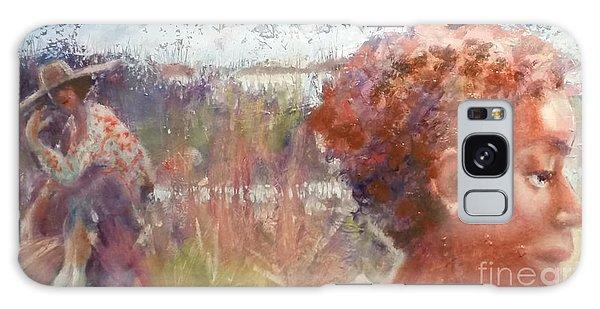 Seasons Of Sweetgrass Galaxy Case by Gertrude Palmer