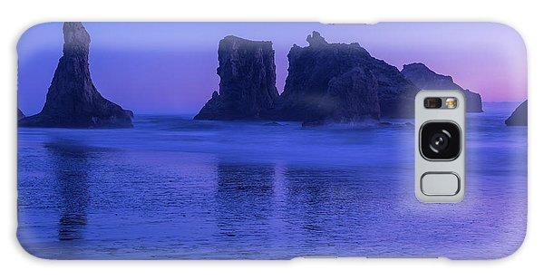 Seastack Sunset In Bandon Galaxy Case