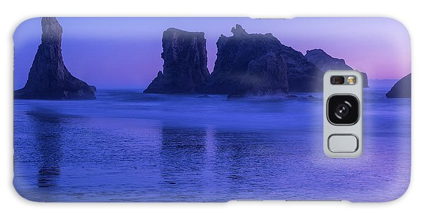 Seastack Sunset In Bandon Galaxy Case