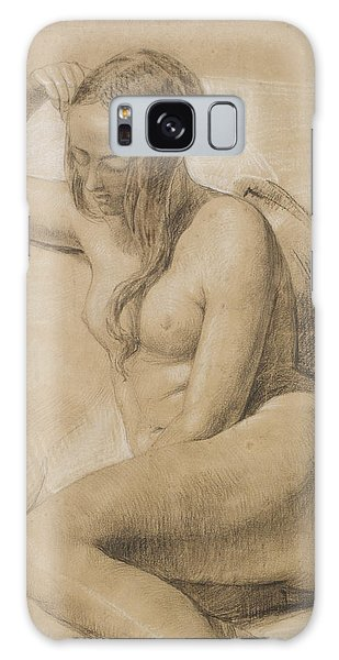 Sitting Nude Galaxy Case - Seated Female Nude by Sir John Everett Millais