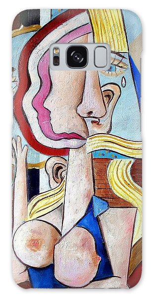 Seated Woman Galaxy Case