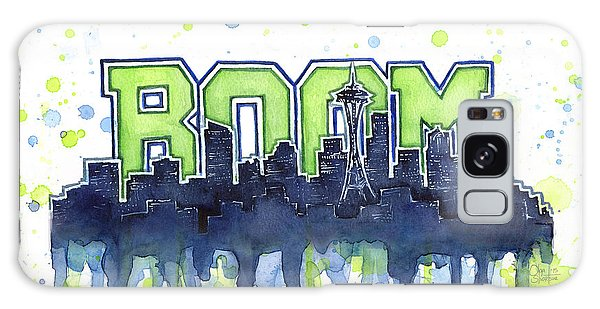 Hawk Galaxy Case - Seattle 12th Man Legion Of Boom Watercolor by Olga Shvartsur