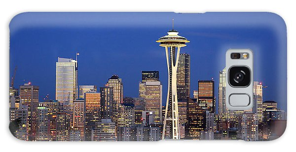 Seattle At Dusk Galaxy Case