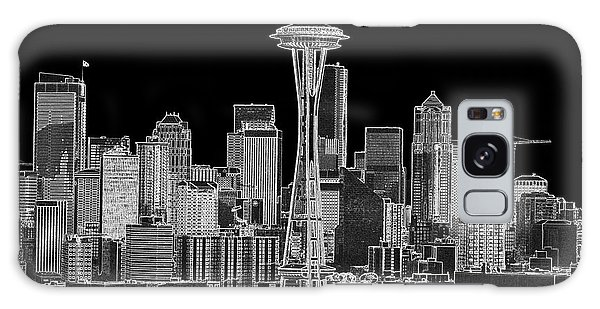 Seattle Black And White Galaxy Case