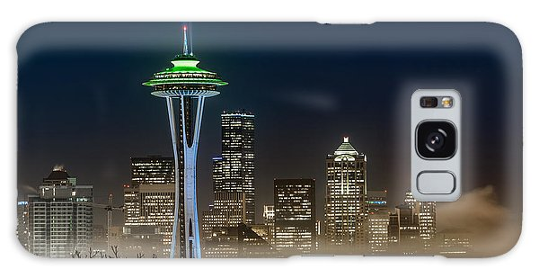 Seattle Foggy Night Lights Galaxy Case