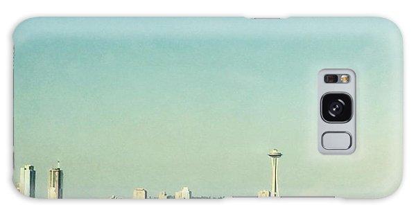 Skylines Galaxy Case - Seattle In The Morning #seattle by Joan McCool
