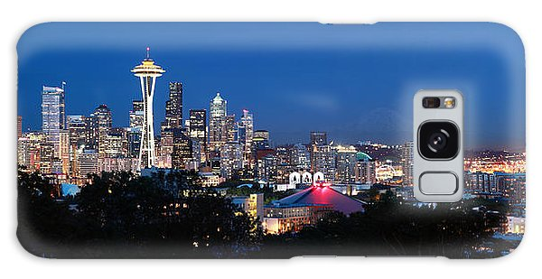 Seattle Panorama At Twilight Galaxy Case