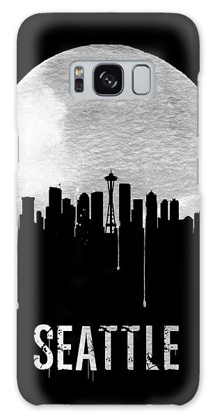 Seattle Skyline Black Galaxy Case by Naxart Studio