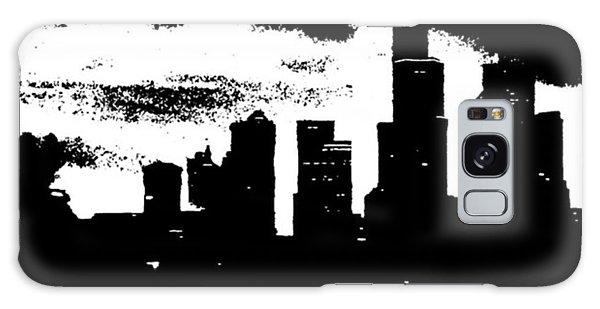 Skylines Galaxy Case - Seattle Skyline In B&w #enlight by Joan McCool