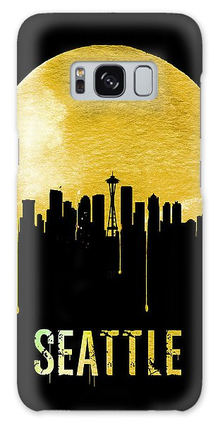 Seattle Skyline Yellow Galaxy Case by Naxart Studio