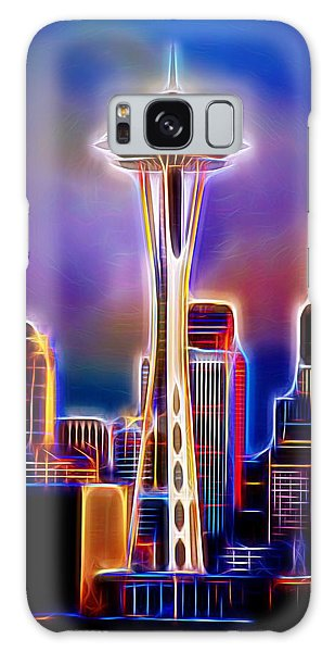 Galaxy Case featuring the photograph Seattle Space Needle 1 by Aaron Berg