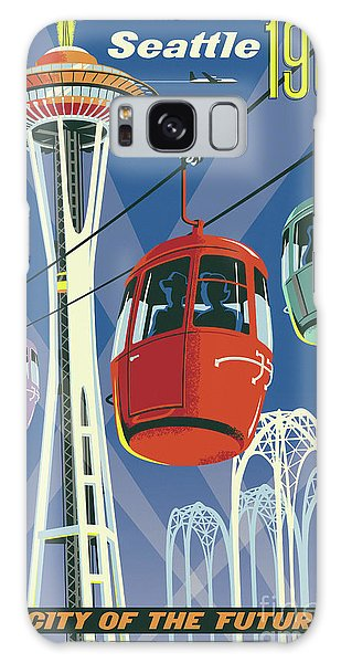 Sixties Galaxy Case - Seattle Poster- Space Needle Vintage Style by Jim Zahniser