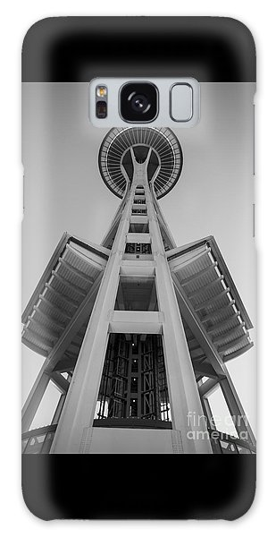 Seattle Space Needle In Black And White Galaxy Case