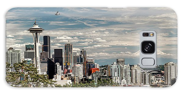 Seattle Space Needle With Mt. Rainier Galaxy Case