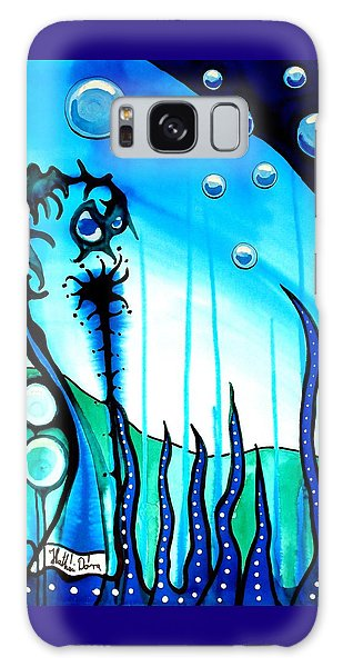 Seaweed - Art By Dora Hathazi Mendes Galaxy Case by Dora Hathazi Mendes