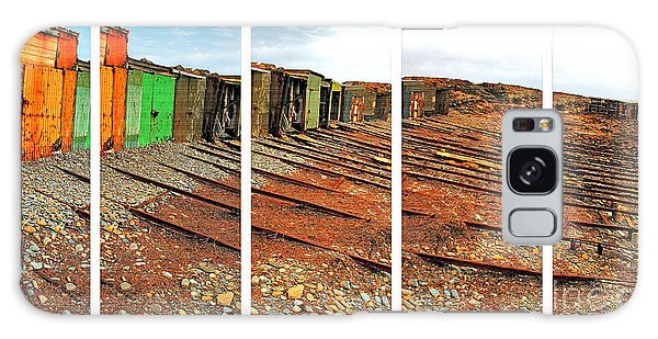 Galaxy Case featuring the photograph Second Valley Boat Sheds by Stephen Mitchell