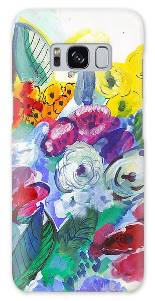 Secret Garden With Wild Flowers Galaxy Case